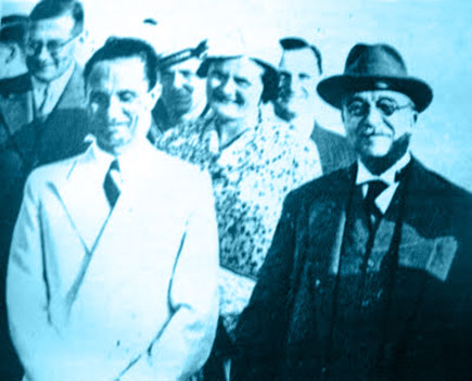 Joseph Goebbels visit to Metaxas in Athens, Greece, September 1936
