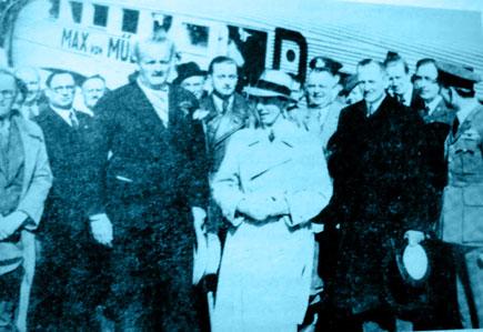 Joseph Goebbels visit to Metaxas in Athens, Greece, September 1936